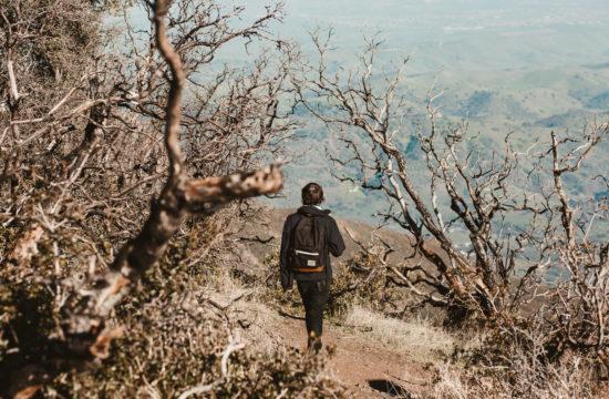Josh Kirby hiking Mt. Diablo
