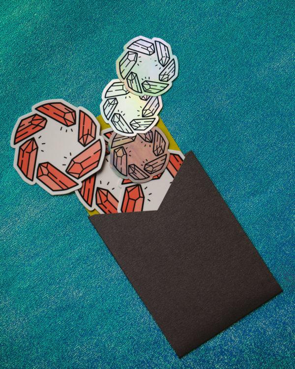 Crystal Shutter Sticker Set Flat Lay